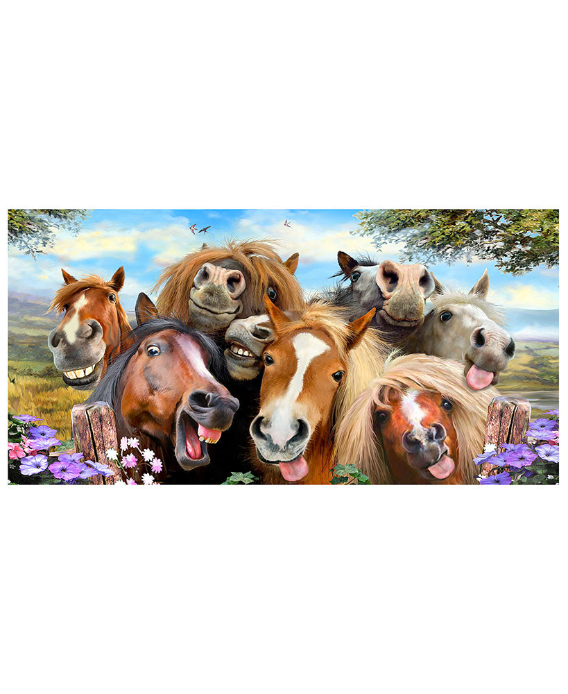 Horses Animal Selfie Beach Towel - Personalized