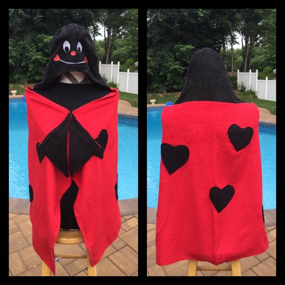 Ladybug Love Bug Hooded Bath Towel Wrap - Personalized