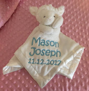 White Lamb WHITE Security Blanket Lovey - Personalized