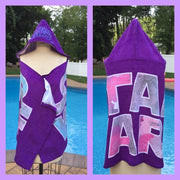 Star Wars Princess Leia Hooded Bath Towel Wrap Purple – Personalized