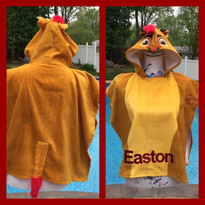 Lion Guard Kion Lion King Simba Hooded Poncho Towel - Personalized