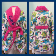 Girls 4-10 My Little Pony Rainbow Dash & Fluttershy Robe - Personalized Monogrammed