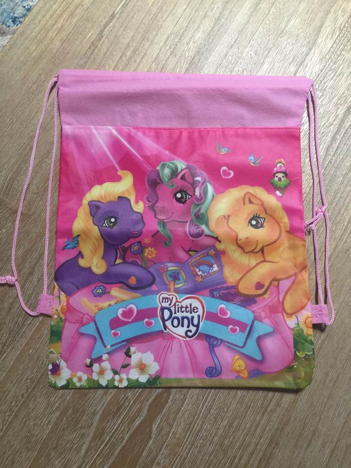 My Little Pony MLP Drawstring Backpack Sling Bag Tote – Personalized