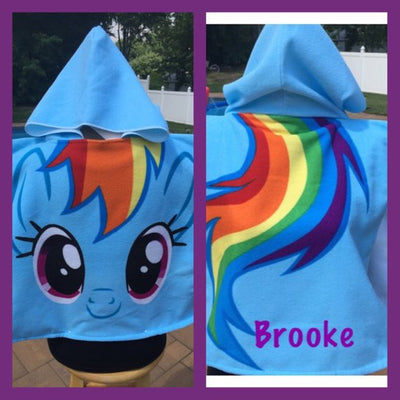 MLP My Little Pony Hooded Towel Poncho Bath Beach or Pool Towel Poncho - Personalized