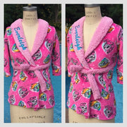 Toddler Girl My Little Pony Pinkie Pie & Rainbow Dash Fleece Robe - Personalized Monogrammed