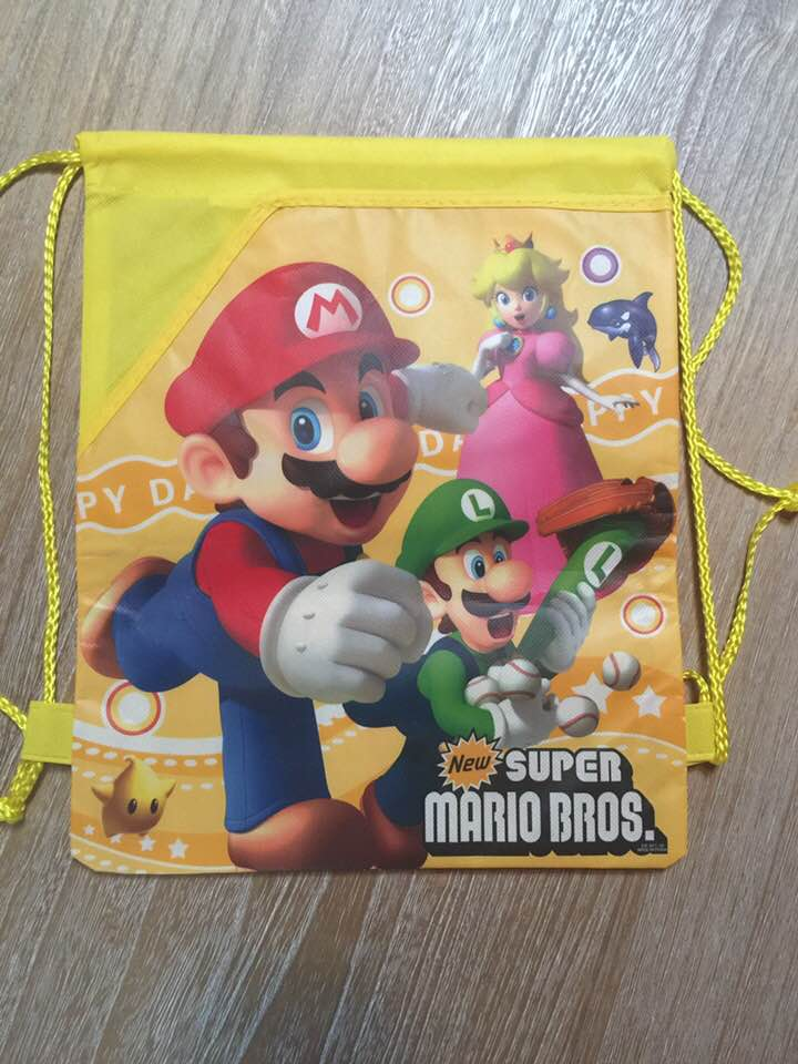 Mario Brothers Drawstring Backpack Sling Bag – Personalized