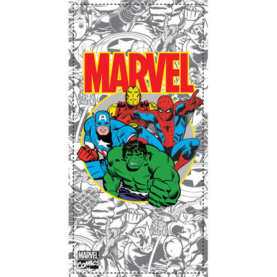 Marvel Comics Beach Towel - Hulk, Spider-Man, Iron Man & Captain America - Personalized