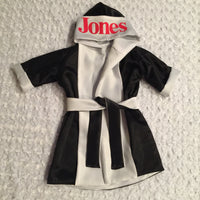 CUSTOM Made & Monogrammed Satin Baby BOXING Robe Boxing Kimono Outfit Personalized