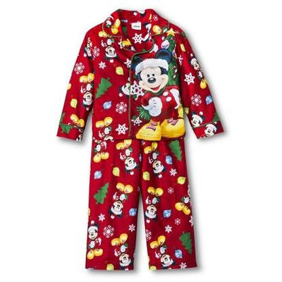 Disney Mickey Mouse Christmas Holiday Fleece Pajama Set - Toddler - Personalized