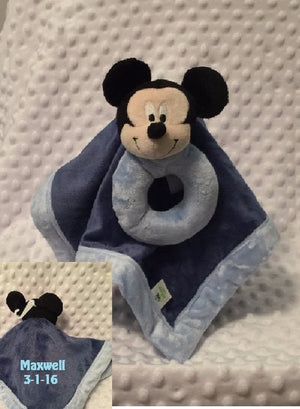 Mickey Mouse Snuggle Blankey Security Baby Lovey - Personalized
