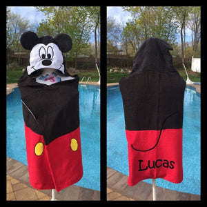 Mickey Mouse hooded towel wrap Bath Wrap Towel - Personalized