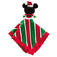 Mickey Mouse Holiday itty bittys Baby Lovey Blanket - Monogrammed