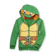 Nickelodeon TMNT Teenage Mutant Ninja Turtles Toddler 3T Hoodie Jacket - Visor - Michelangelo