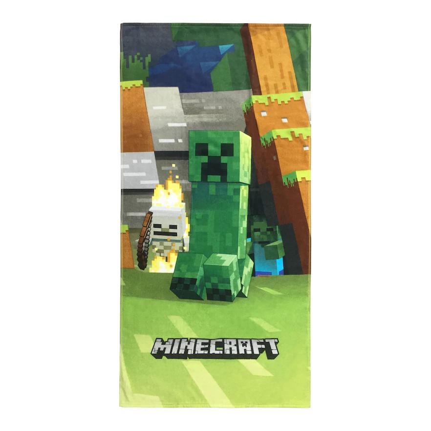 Minecraft Mob Emerge Beach Towel - Personalized