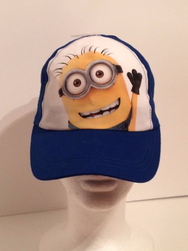 Minions Blue Kids Baseball Cap Hat Personalized