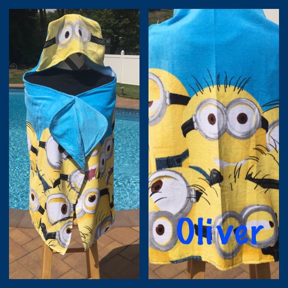 Mega Minions Hooded Bath Towel Wrap - Personalized