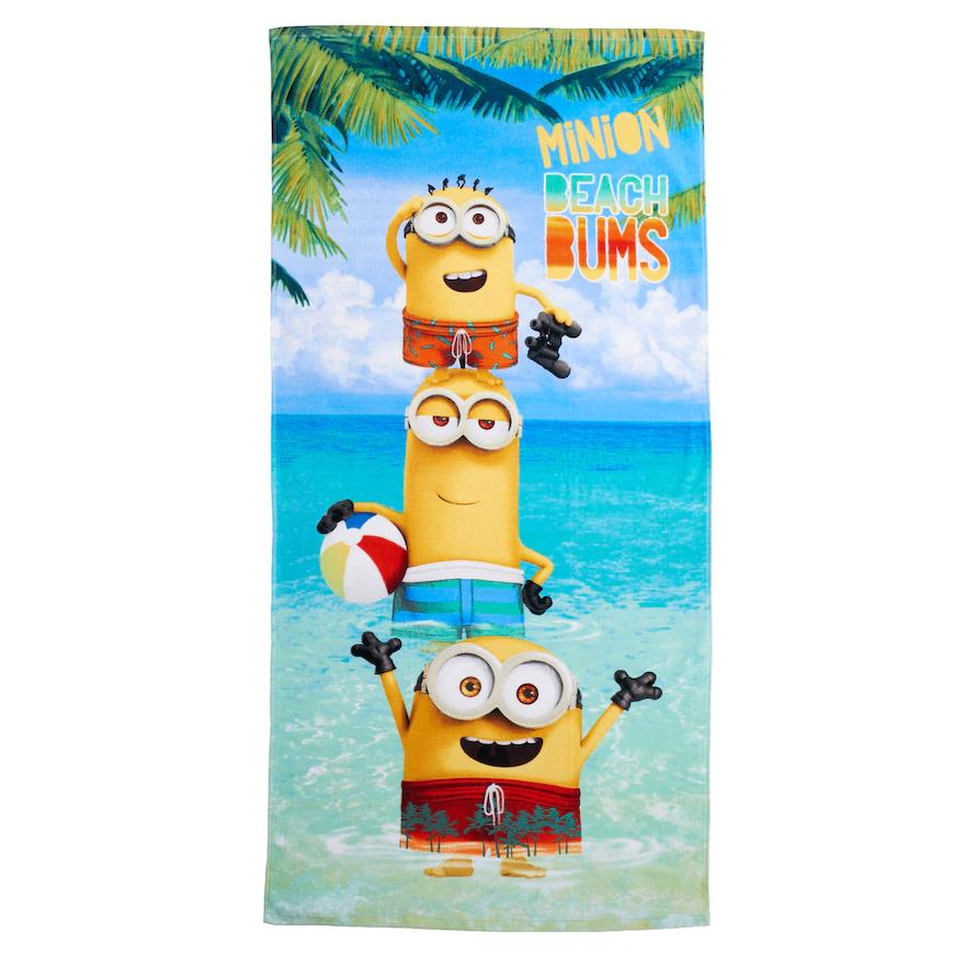 "Minions Beach Bums ""Cool Lagoon"" Beach Towel - Personalized"