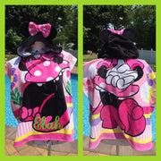 Disney Minnie Mouse Hooded Beach towel poncho – Personalized
