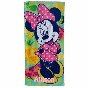 Minnie MOUSE Beach Towel - Personalized Beach Towel - All about the Fruits