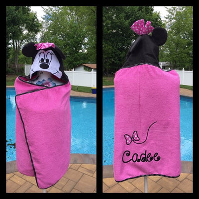 Minnie Mouse Bath Wrap Towel – Personalized