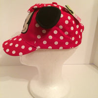Disney Red White Polka Dot Minnie Mouse Girls Baseball Hat - Personalized