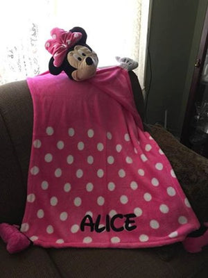 Cuddleuppets Minnie Mouse Plush Puppet Blanket Throw Personalized
