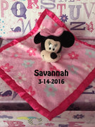 Minnie Mouse Snuggle Blankey Security Baby Blanket lovey -  Personalized