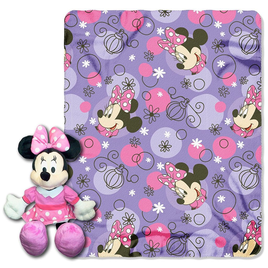 Disney Minnie Mouse Pretty Perfume Hugger and Throw Set- Personalized