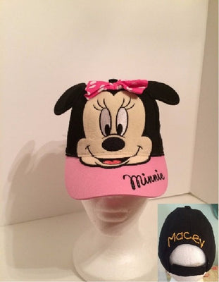 Disney Minnie Mouse Girls Baseball Hat Pink Cap - Personalized