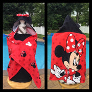 MINNIE MOUSE Hooded towel wrap Beach Towel - Personalized