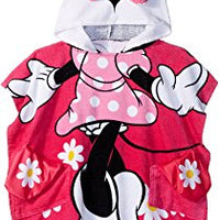 Disney Minnie Mouse Hooded Poncho Towel – Personalized