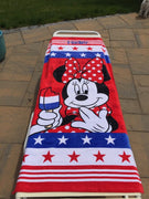 Americana Minnie MOUSE Beach Towel - Personalized Beach Towel