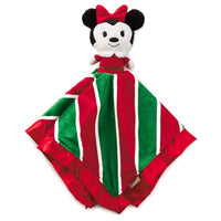 Minnie Mouse Holiday itty bittys Baby Lovey Blanket - Monogrammed