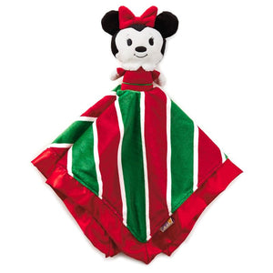 Minnie Mouse Holiday itty bittys® Baby Lovey Blanket - Monogrammed