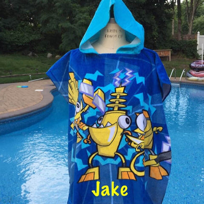 LEGO Mixels Electroid Hooded Poncho Towel – Personalized