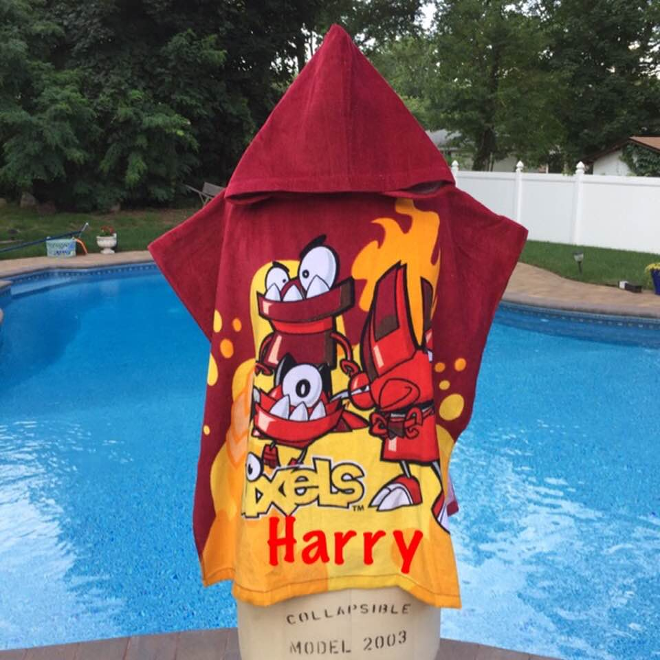 LEGO Mixels Infernites Hooded Poncho Towel – Personalized