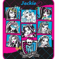 "Monster High 46"" x 60"" Plush Throw Blanket - Personalized"