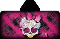Monster High Skullette Skull Hooded Towel Wrap - Personalized