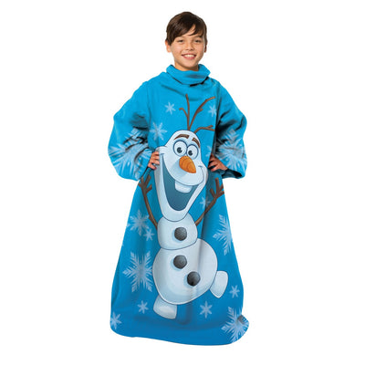FROZEN Olaf Youth Comfy Blanket Throw with Sleeves - Personalized