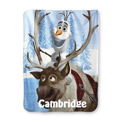 FROZEN Olaf and Sven Personalized Fleece Throw Blanket - Personalized