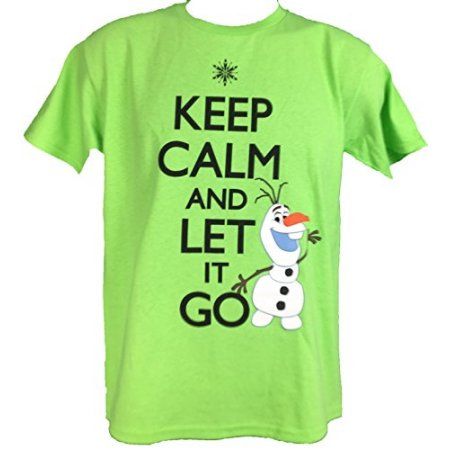 Disney Frozen OLAF Tee T-Shirt Keep Calm and Let It Go Size: 4-18