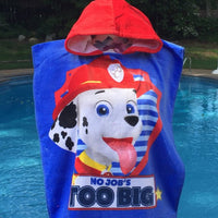 Paw Patrol Hooded Towel Poncho Bath Beach or Pool Towel - Personalized
