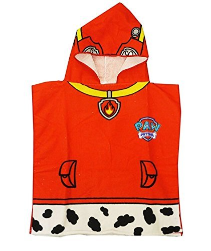 Paw Patrol Marshall Hooded Poncho Bath Towel - Personalized
