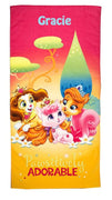 Princess Palace Pets Positively Adorable Beach Towel - Personalized Beach Towel