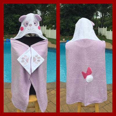 Panda Bear Hooded Bath Towel Wrap - Personalized