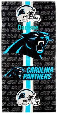 Football NFL Carolina Panthers Beach Towel Personalized