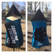 Football NFL Carolina Panthers Hooded Towel Wrap - Personalized