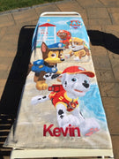 Paw Patrol Puppy Run Beach Towel - Personalized Beach Towel