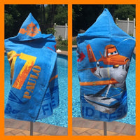 "Disney/Pixar Planes ""Fire and Rescue"" Super Soft Hooded Beach Towel Bath Towel Wrap - Personalized"