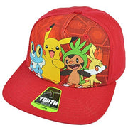 Pokemon Flat Bill Youth Cartoon Pikachu Baseball Hat Cap - Personalized